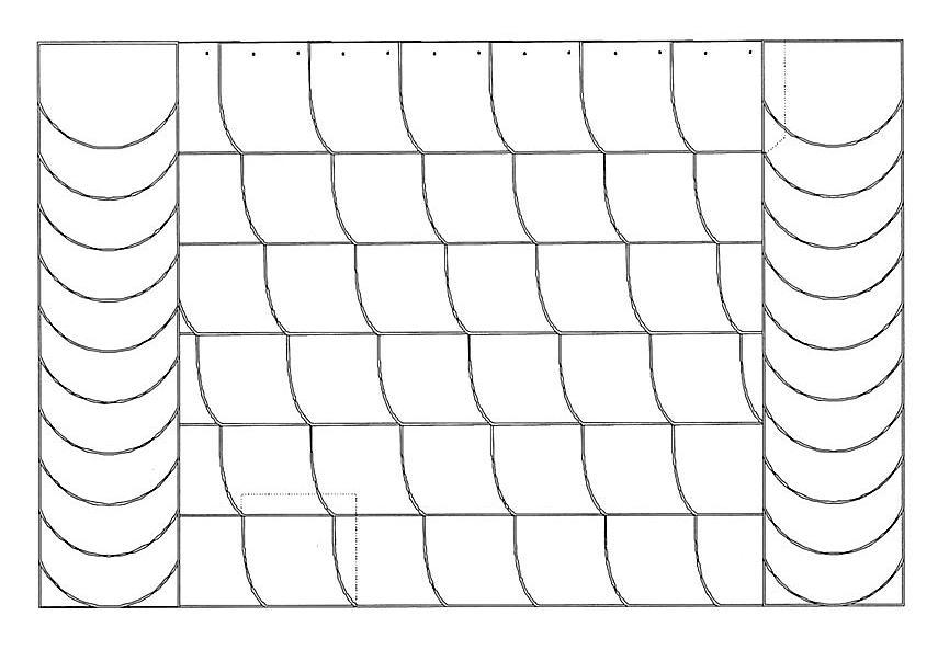 Ibero-Bogenschnitt-Deckung