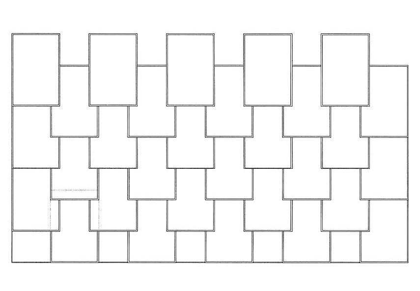 Ibero-gezogene-Rechteck-Doppeldeckung